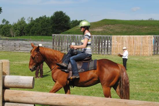 2014 July 10 1 side saddle at the Bar U Ranch.jpg