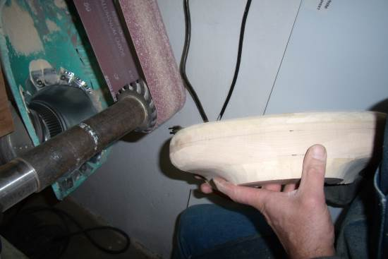 2014 Sept 15 3 shaping a metal horn fork.jpg