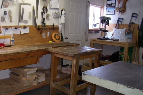 2016 Sept 17 1 table, band saw and work bench.jpg